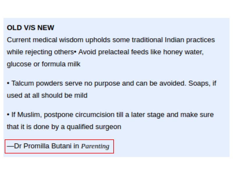 Old Vs New Pediatrician Practices