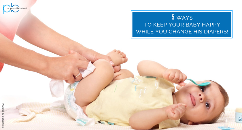 5 Ways to keep your baby happy while you change his diapers!