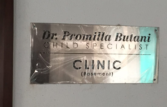 Dr.Promilla Butani Child Specialist Clinic