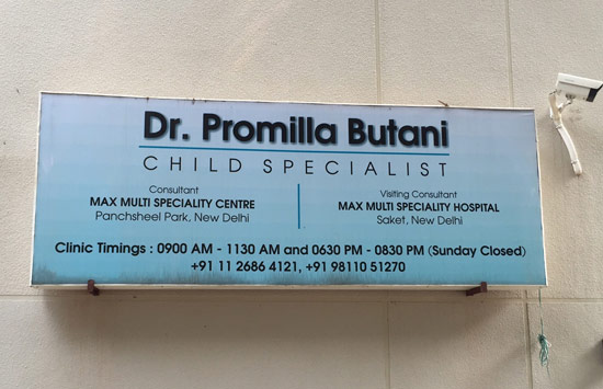 Dr.Promilla Butani Child Health Specialist